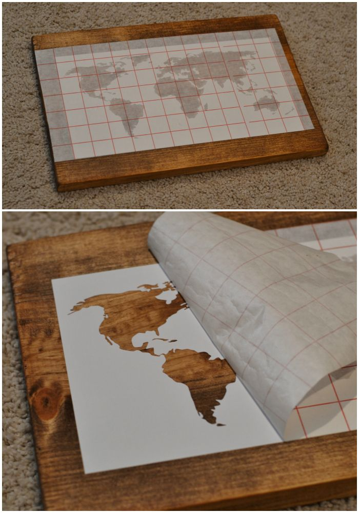 7 best images on pinterest craft diy wall decor and frames all things bright and beautiful diy world map wall art gumiabroncs Choice Image