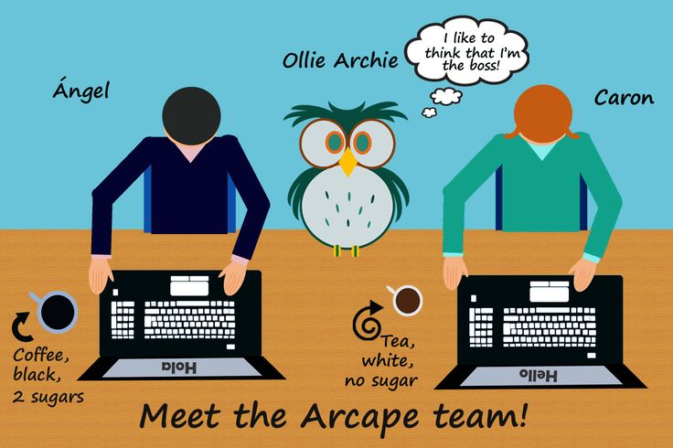 A big welcome from the Arcape team!  Here they are beavering away.
