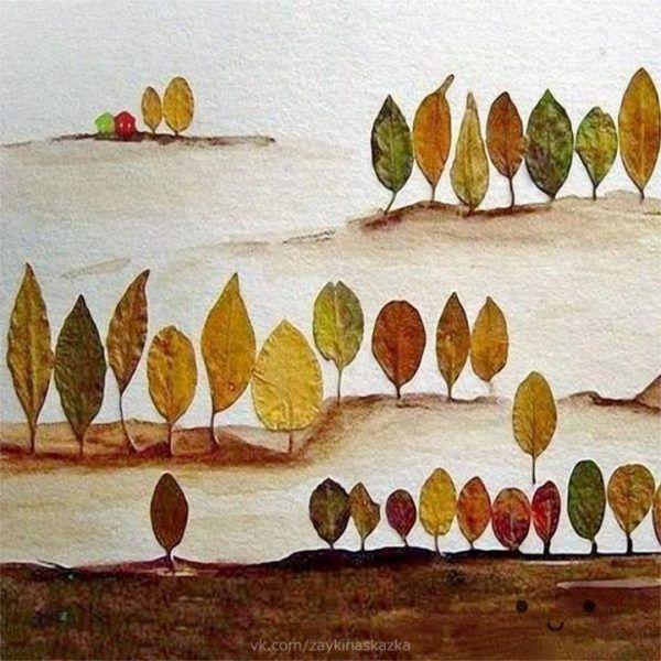 DIY – Dessiner avec des feuilles d'automne