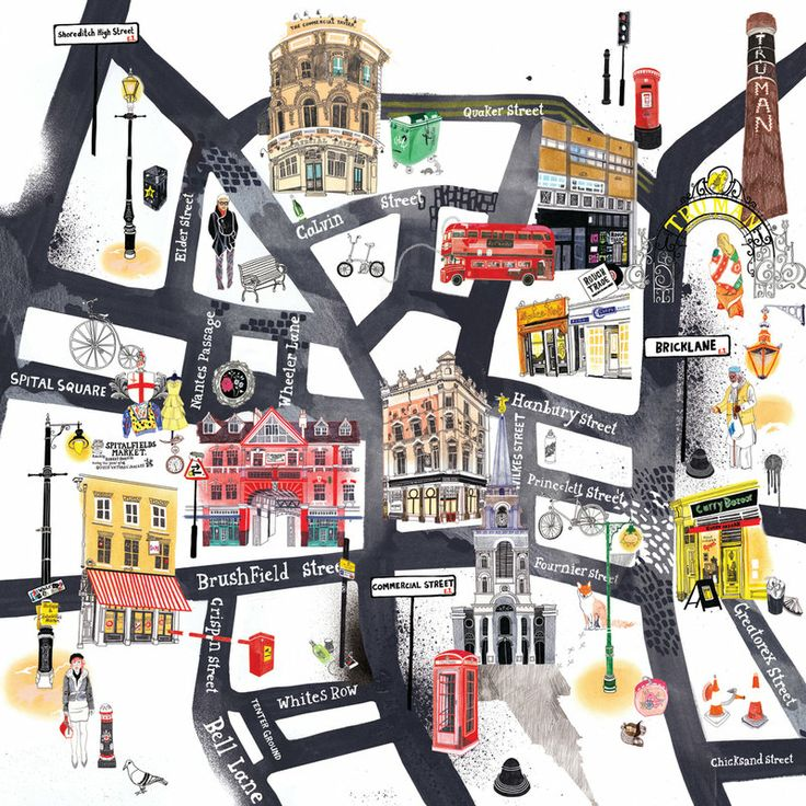 East End Map by Hennie Haworth