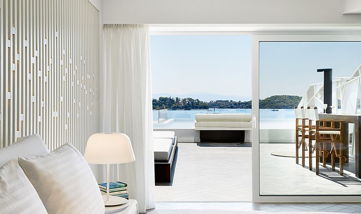 Ideal for romantic holidays in Porto Heli, these elegantly decorated Luux Rooms offer all the comforts and amenities that set the standard at the Nikki Beach Resort & Spa.