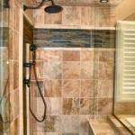 Traditional Master Bathroom in Blue Springs - recessed can lights, white ceramic drop in tub | by B Remodeling, LLC