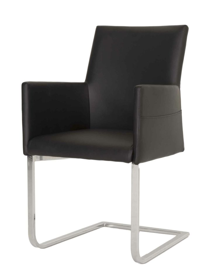 Bo dining arm chair in black dining contemporary star for Black dining chairs with arms