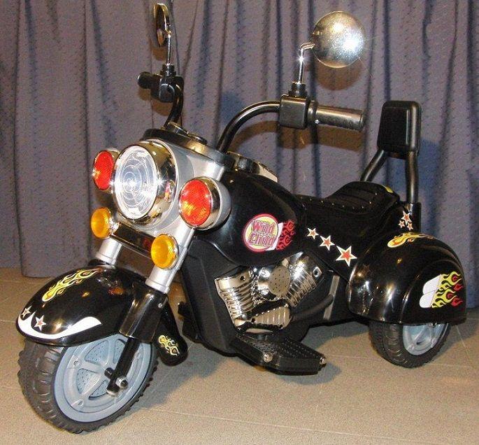 Moto infantil AVENTURE, de batería 6V NEGRA, IndalChess.com Tienda de juguetes online y juegos de jardin