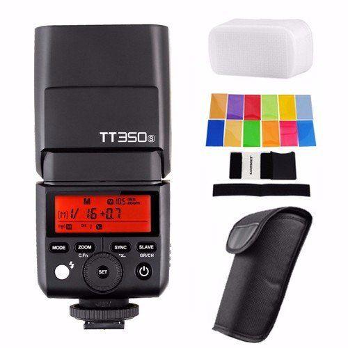 Godox TT350S 2.4G HSS 1/8000s TTL GN36 Wireless Speedlite Flash for Sony A7 A7R A7S A7 II A7R II A7S II A6300 A6000 with EACHSHOT Diffuser
