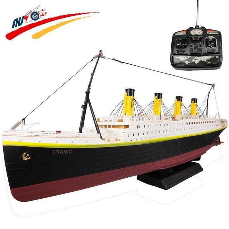 Cruise Ship 3D Titanic RC Boat High Simulation Ship Model Toys Дистанционное Управление Лодка