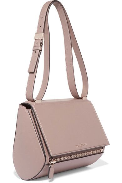 Givenchy - Pandora Box Medium Textured-leather Shoulder Bag - Beige - one size
