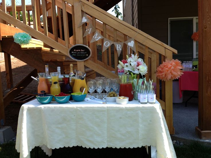 proposal rings Mimosa Bloody Mary bar