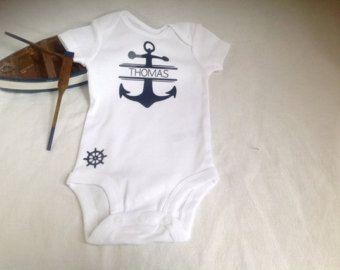 Love Anchor Infant Bodysuit  Anchor Baby Onesie  Nautical