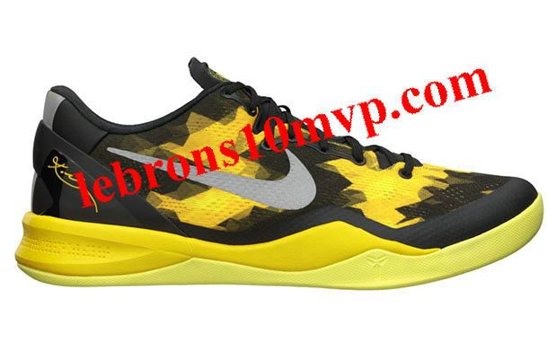 Nike Kobe 8 System Black Street Grey Vivid Sulfer Electric Green 555035 001