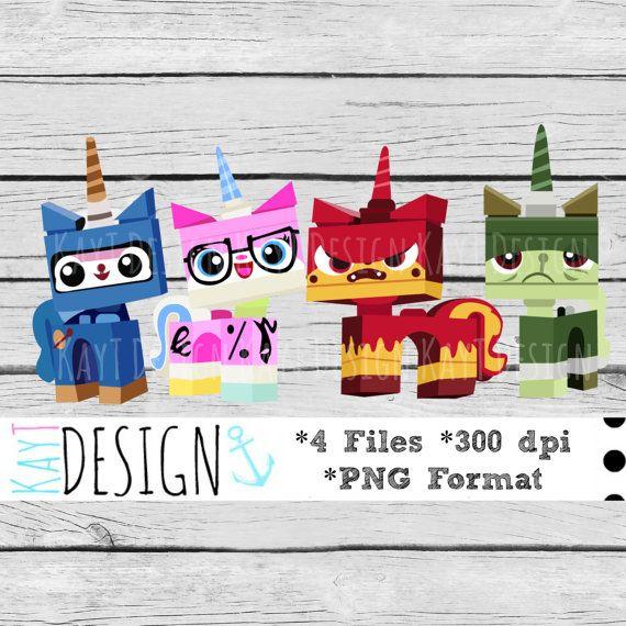 Uni Kitty Clip Art by KayTDesign on Etsy, $5.00