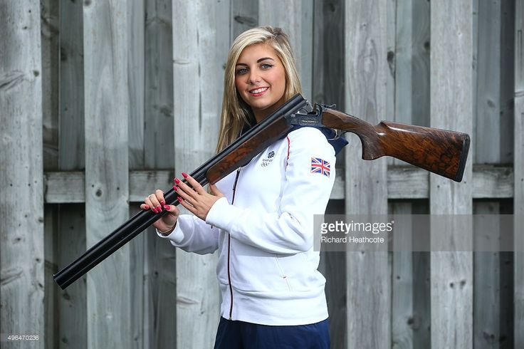 (EDITORS NOTE: IMAGE EMBARGOED BEFORE 10th NOVEMBER 2015) 18yr old Amber Hill poses for a portrait as she is selected for the Team GB Shooting Team for Rio 2016 Olympic Games at the E.J.Churchill Shooting Ground on November 02, 2015 in High Wycombe, England.  (Photo by Richard Heathcote/Getty Images)