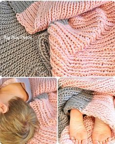 """Yet another reason I wish I had the patience to knit: """"Quickie Blanket"""" from Big Box Detox"""