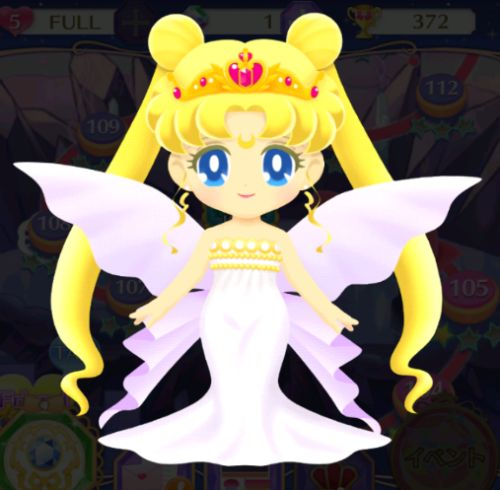 Neo Queen Serenity of Sailor Moon Drops game.