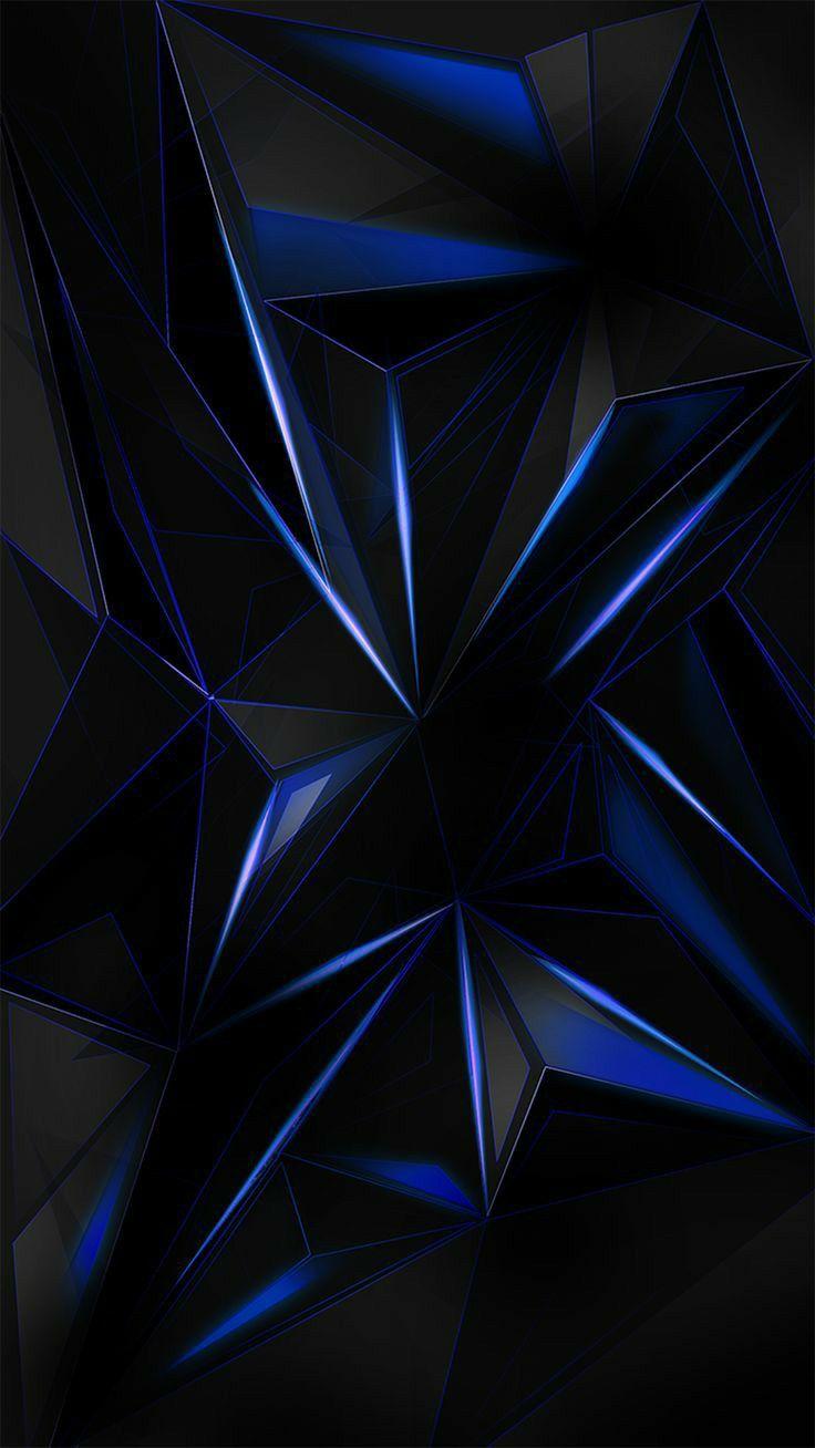 Blue And Black Wallpaper Abstrak Wallpaper Ponsel Seni Abstrak