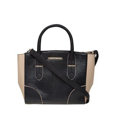 Dorothy Perkins Black and blush mini tote bag | Debenhams