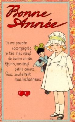 happy new year expression in french bonne anne happy new year the verse reads with my dolly alongside i come to wis