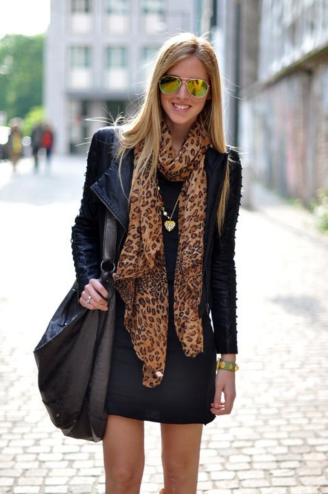 i love scarves and leather jackets (: