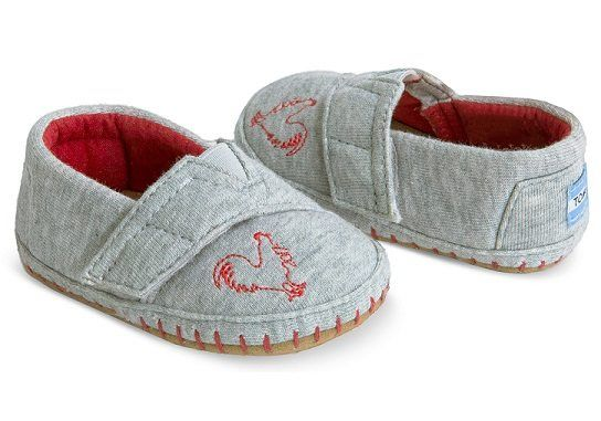 Year of the Rooster Tiny TOMS Crib Alpargatas