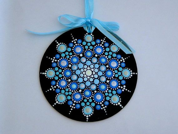 Handmade Christmas Tree Ornament Mandala Snowflake