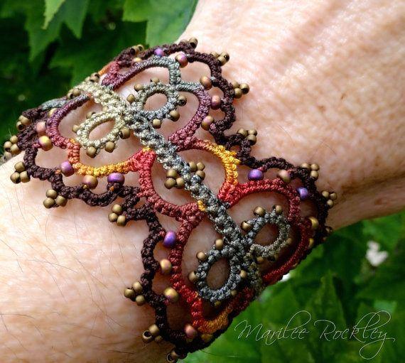 PDF Shuttle Tatting Pattern Linnea tatted bracelet by yarnplayer