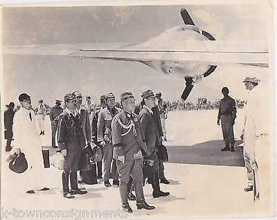 TORASHIRO KAWABE JAPANESE SURRENDER PEACE DELEGATION SNAPSHOT PHOTO AUG 19 1945