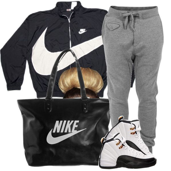 #OFTD 04.21.14 Lazy day Air Jordan Retro 12 ~Brianna, created by vintagetrillbrat on Polyvore