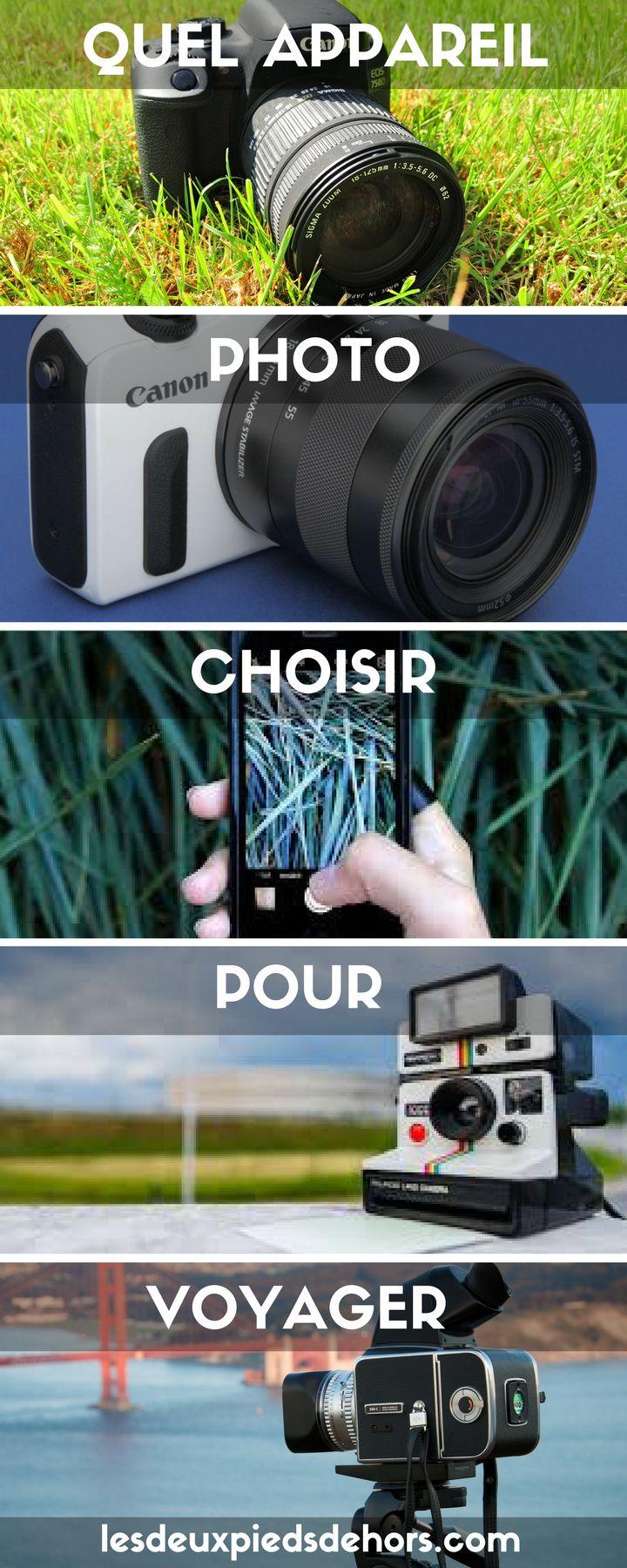 Vous partez en voyage, en tour du monde, en week-end, en vacances ? Vous avez décidé d'acheter un appareil photo mais vous ne savez pas lequel choisir ? Il en existe tellement : smartphone, bridge, hybride, reflex, Polaroid. Je vous guide dans votre achat !