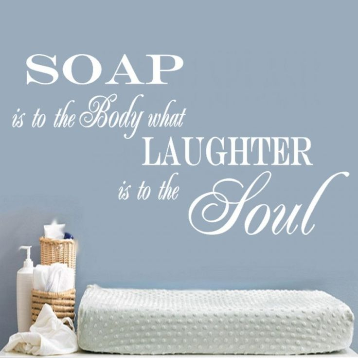 SOAP SOUL BATHROOM QUOTE VINYL WALL ART STICKER DECAL ...