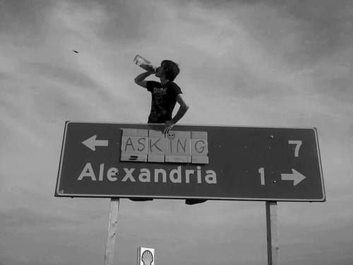 Asking Alexandria!  Asking is 7 miles away but Alexandria is only 1