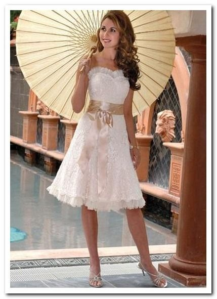 Casual Wedding Dresses For Summer Tea Length Hairstyle Wedding
