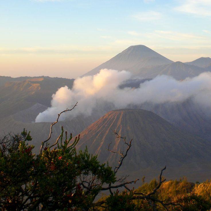 Ein herrlicher Blick auf den Vulkan Bromo auf Java, Indonesien