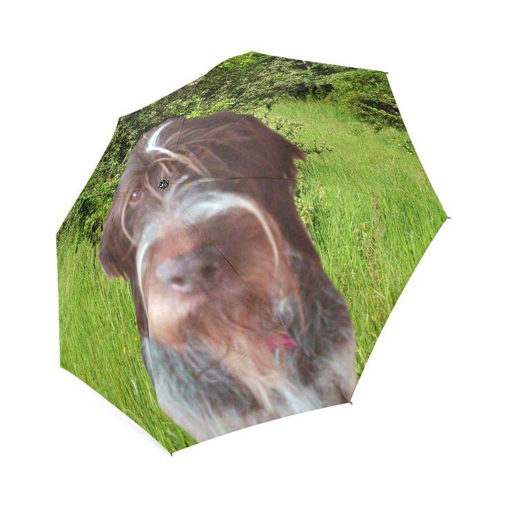 Dog and Flowers Foldable Umbrella