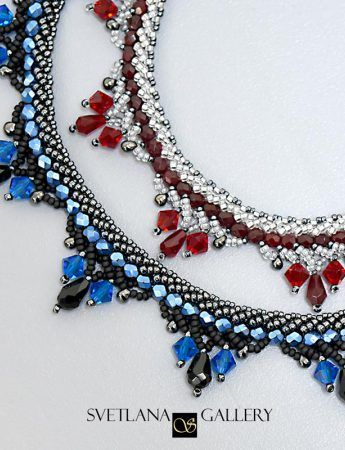 Learn double-spiral stitch and enjoy the process of making elegantly beaded necklace following this well-illustrated pattern and step-by-step tutorial!