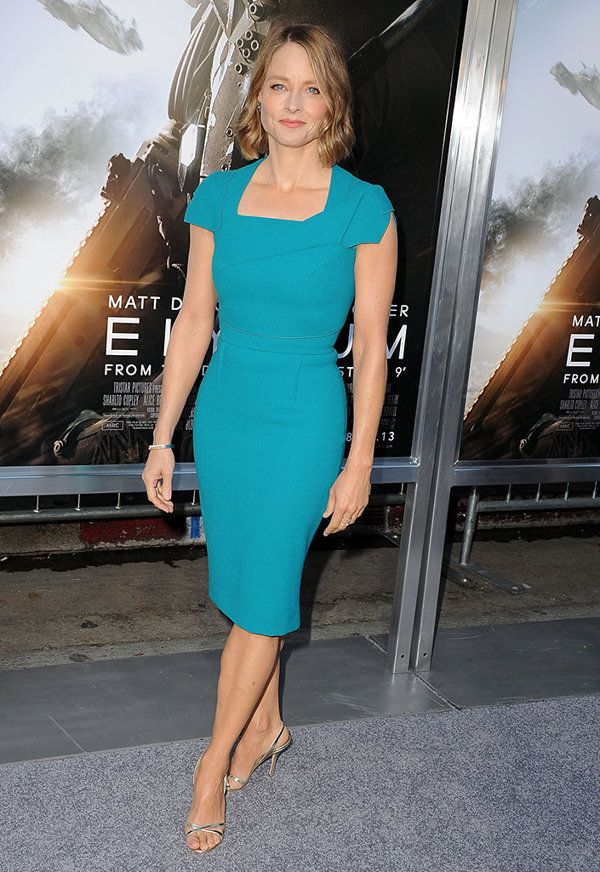 Jodie Foster at the premiere of 'Elysium'