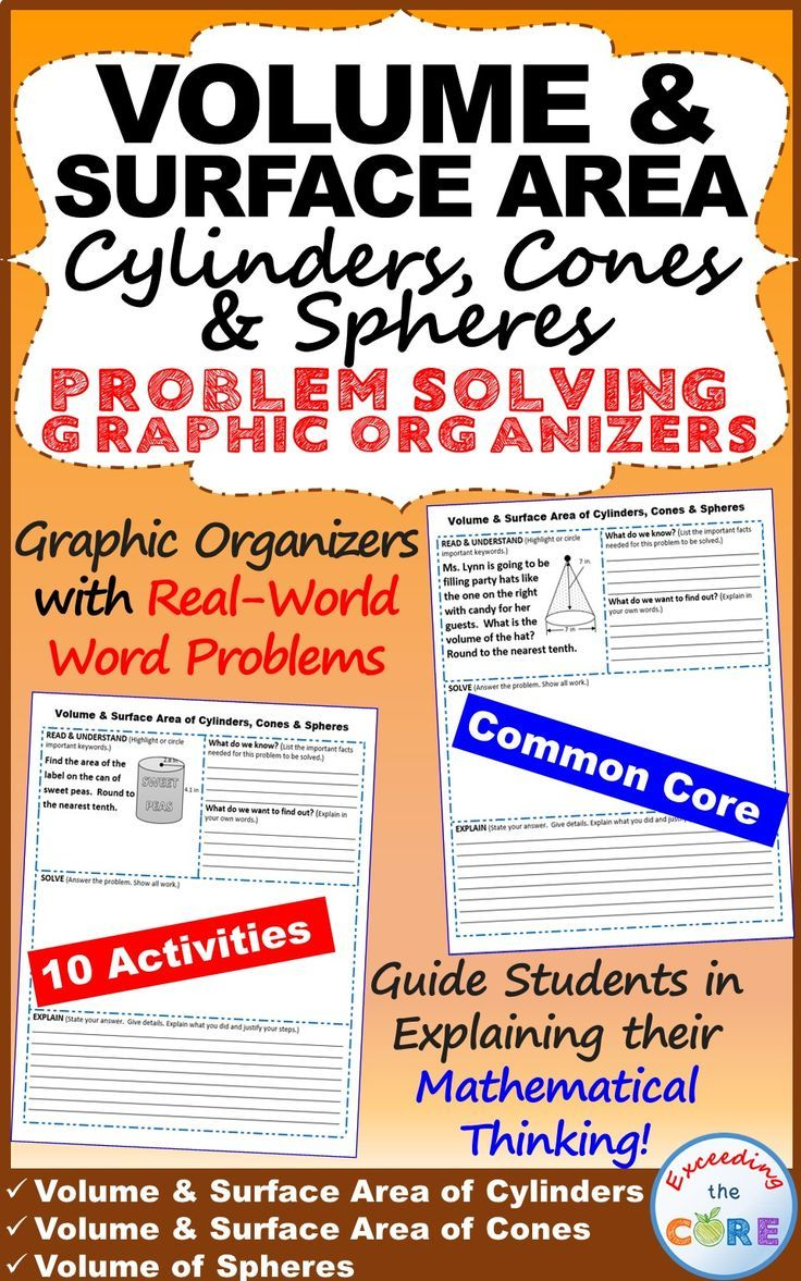 Get Your Students Successfully Understanding And Solving Volume & Surface  Area Of Cylinders, Cones &