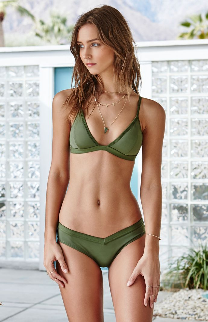 Elastic Band Fixed Triangle Bikini Top
