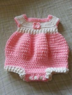 Newborn Romper By Joanne Holt - Free Crochet Pattern - (ravelry)