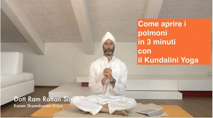 Come aprire i polmoni in 3 minuti con il Kundalini Yoga (video lezione c...
