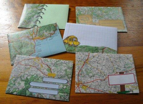 12 idées pour recycler des vieilles cartes routières - Page 2 sur 2 - Des idées
