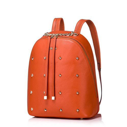 Nucelle Women Genuine Leather Backpacks Fashion Ladies Cowhide Rivet Chains Female Daily Double Shoulder Bags NZ5793