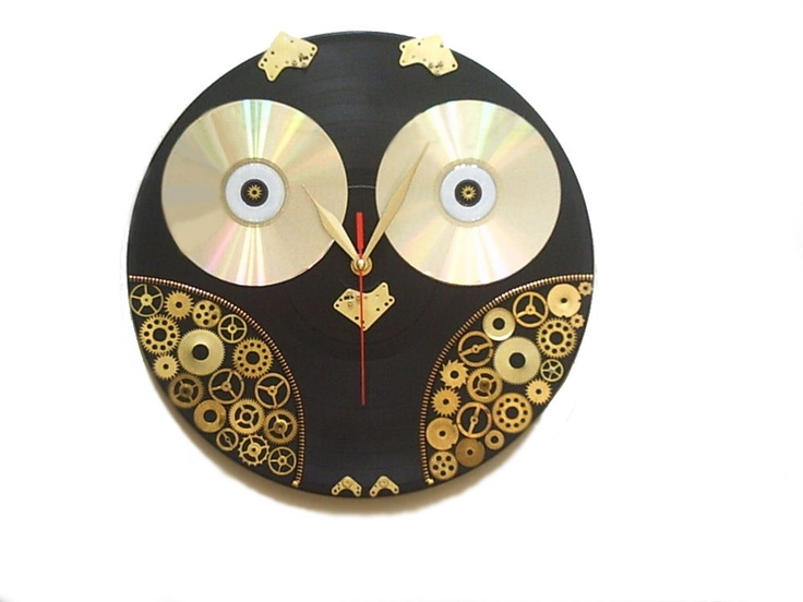 Wall+Clock+Steampunk+And+Geekery+Owl+gift+for+men+by+OlgaArtShop,+$80.00