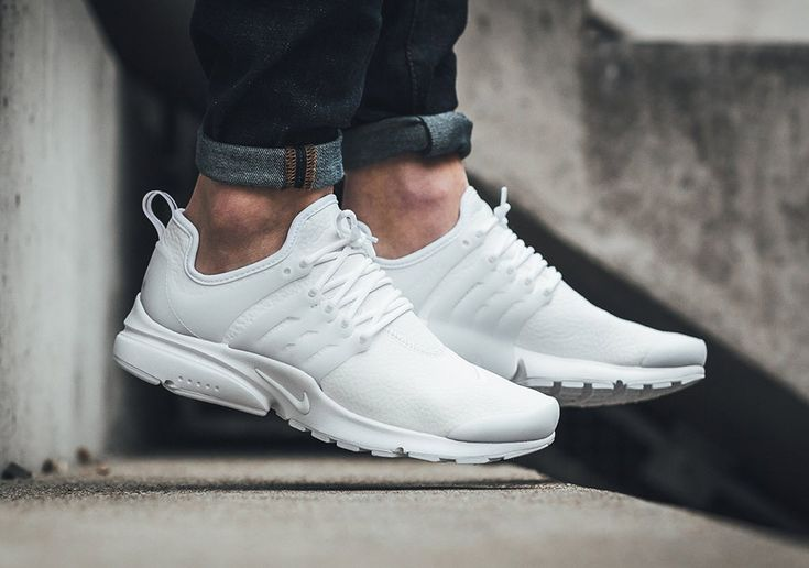 This women's version of the Nike Air Presto comes constructed out of a leather upper. Get a good look at the shoe here.
