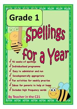 This is a full year's developmentally appropriate spelling programme for 6 year old children. It contains targeted word lists with spelling patterns identified, and lots of fun activities to do. It is designed to provide teachers with optimal information about their