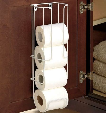 Make every inch count with the Toilet Tissue Holder. Now you can save cabinet space, floor space and even wall space by mounting your toilet paper holder where you actually need it! Stores toilet paper in an easy to reach area. Holds up to 4 rolls of toilet paper. No hardware or tools needed .