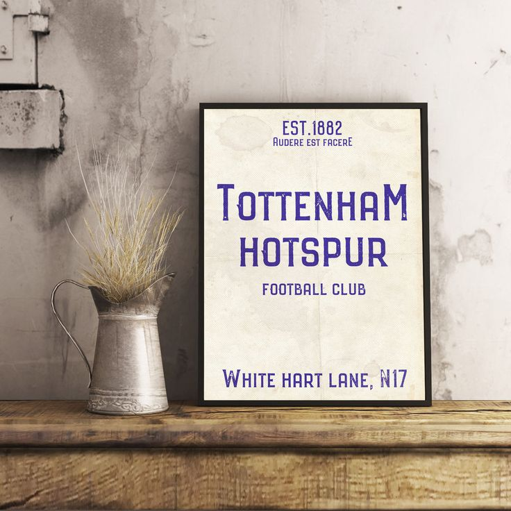 White Hart Lane Spurs Tottenham A4 Picture Art Poster Retro Vintage Style Print