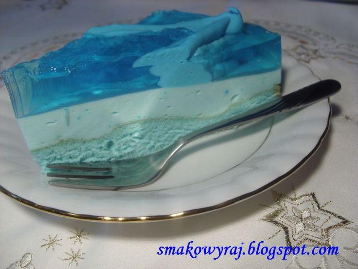 Smakowy Raj: Gwiezdny tort błękitna laguna, w trzech kolorach niebieskich, z galaretką i ptasim mleczkiem, na każdą okazję :)