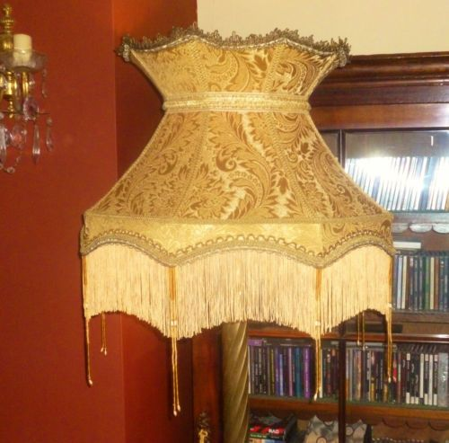 17 best lamp shade ideas images on pinterest lampshades lamp astoria huge victorian style gold chenille beaded standard lampshade 22 ebay aloadofball Gallery