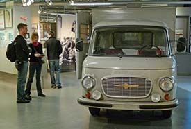 Van used by the Stasi to transport prisoners. Zeitgeschichtliches Forum (Museum of Contemporary History), Leipzig, Germny.