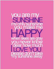 You Are My Sunshine Baby Nursery Printable Wall Art PDF
